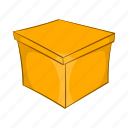 blank, box, cartoon, container, shop, sign, square icon