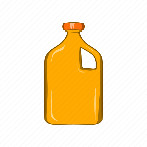 bottle, cartoon, engine, fuel, oil, packaging, sign icon