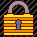 big, closed, lock, locked, padlock, robust, secure icon