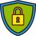 lock, padlock, secure, security, shield icon