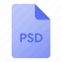 document, extension, file, file format, page, psd