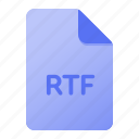 document, extension, file, file format, page, rtf