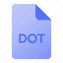 document, dot, extension, file, file format, page