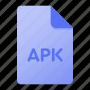 apk, document, extension, file, file format, page