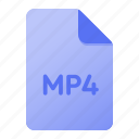document, extension, file, file format, mp4, page