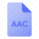 aac, document, extension, file, file extension, page