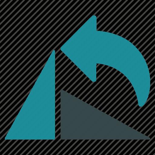 arrow, back, left, previous, rotate, rotation, undo icon