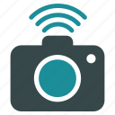 cam, camera, photo, photocamera, radio, snapshot, wifi icon