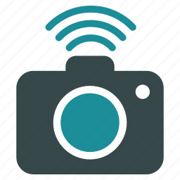 cam, camera, photo, photocamera, radio, snapshot, wifi icon
