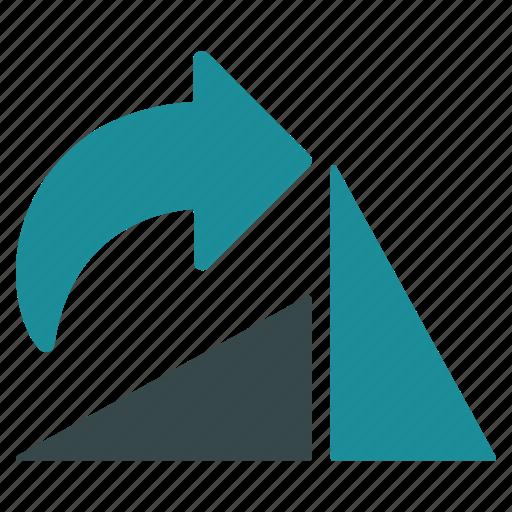 arrow, direction, edit, modify, rotate right, rotation icon