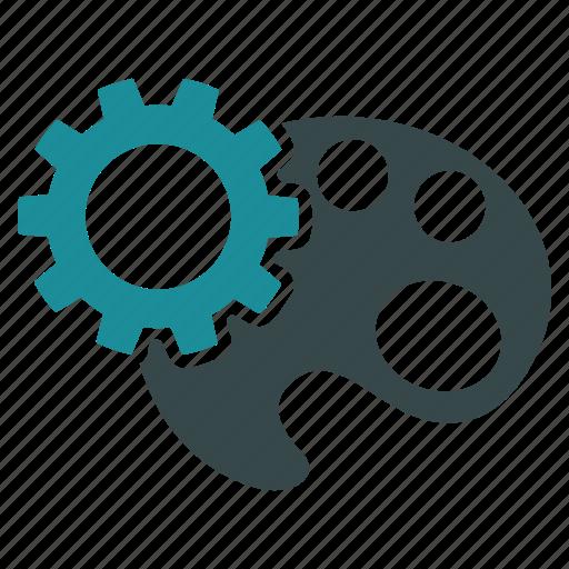 color tools, configuration, gear, paint, palette, preferences, settings icon