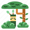 army, camouflage, disguise, tree icon