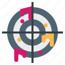 shooting, sniper, target, weapon icon