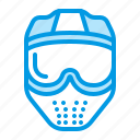 ball, mask, paint, paintball icon