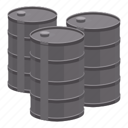 barrels, cartoon, fuel, gas, oil, petrol, pump icon