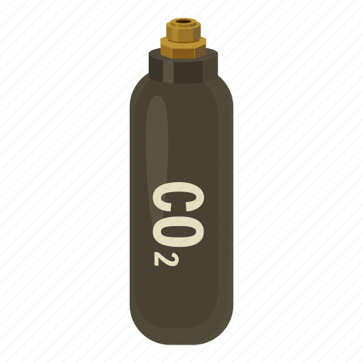 bottle, cartoon, co2, cylinder, gas, military, weapon icon
