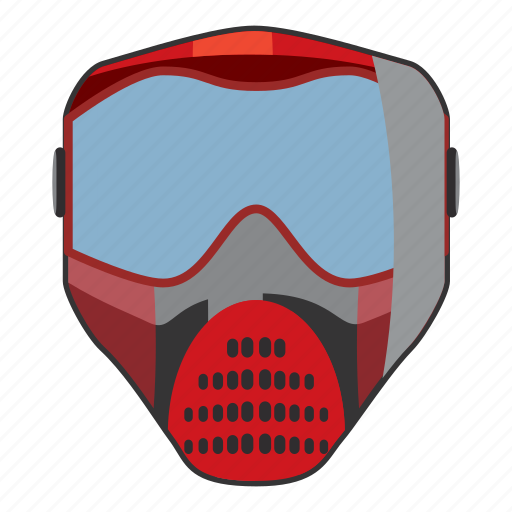cartoon, competition, head, mask, paintball, protection, sport icon