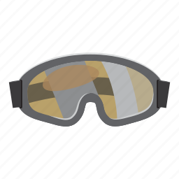 cartoon, competition, goggles, paintball, protection, protective, sport icon