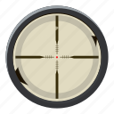 cartoon, instrument, optical, search, target, vision, zoom icon