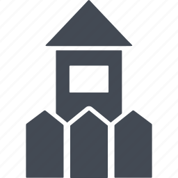 fence, home, house, paintball icon