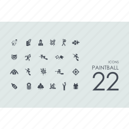 fun, paint, paintball, rest icon