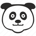 animal, bear, face, fat, head, panda icon