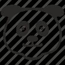 animal, bear, face, fat, head, panda