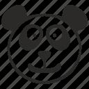 animal, bear, face, funny, head, panda, smile