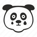 animal, avatar, baby, cry, face, panda icon
