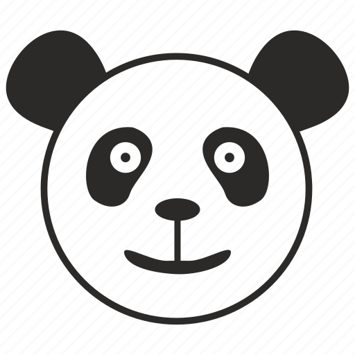 animal, bear, head, panda, smile icon