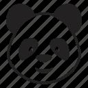 baby, bear, face, panda, toy