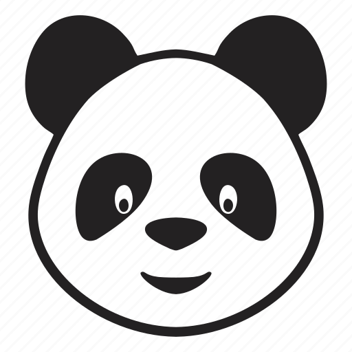 baby  bear  face  panda  toy icon panda vector image panda vector art
