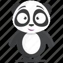panda, emoji, emoticon, smiley, sticker icon