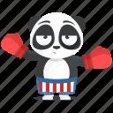 boxer, emoji, emoticon, fighter, panda, smiley, sticker icon
