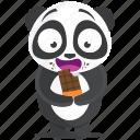 chocolate, emoji, emoticon, panda, smiley, sticker icon