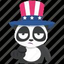 choose, emoji, emoticon, panda, smiley, sticker icon