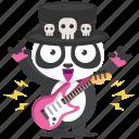 emoji, emoticon, panda, rocker, smiley, sticker icon