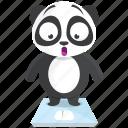 emoji, emoticon, gain, panda, smiley, sticker, weight icon