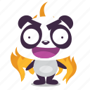angry, fire, furious, panda icon