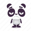 bored, dissapointed, panda icon