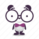 book, geek, panda, worm icon