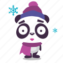 christmas, cold, freezing, panda, winter icon
