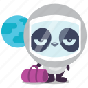 earth, leave, panda, space, travel icon