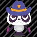 cowboy, panda, revenge, sheriff, shot icon