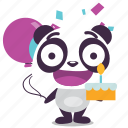 birthday, happy, panda, party, surprise icon