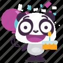 birthday, happy, panda, party, surprise icon