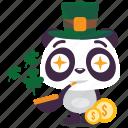 luck, panda, patrick, saint icon