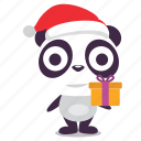 christmas, gift, holiday, panda icon