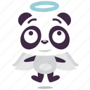 angel, kindness, panda icon