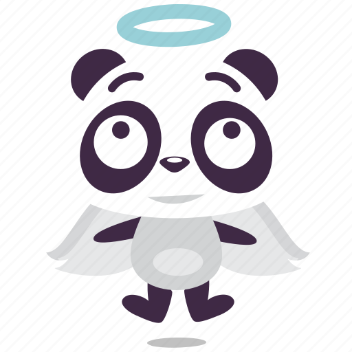 angel, kindness, panda icon